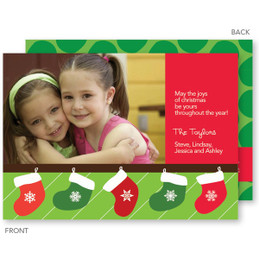 Merry Stockings Christmas Photo Cards