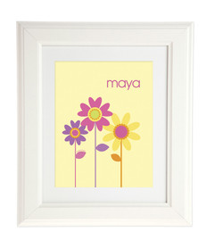 Three Spring Blooms Kids Wall Art