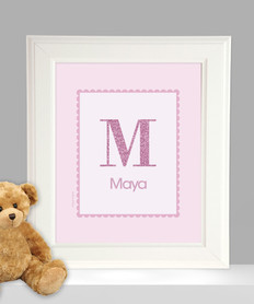 A Shiny Pink Letter Kids Wall Art