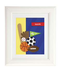 My Love For Sports Kids Wall Art