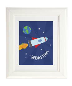 Rocket on the Sky Kids Wall Art