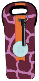 Cute Purple Rocks Wine Tote