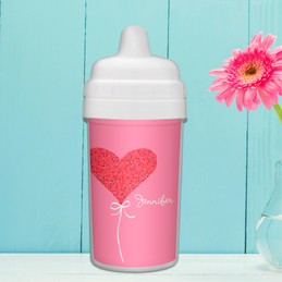 Heart Personalized Sippy Cups for Toddlers