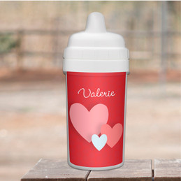 Many Hearts Custom Sippy Cup for Toddlers