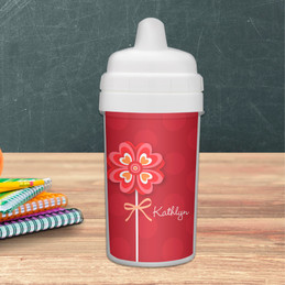Lovely Heart Flower Customized Sippy Cups