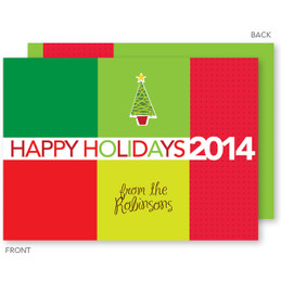 christmas postcards | Colorful Blocks Christmas Cards by Spark & Spark