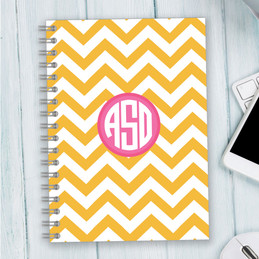Chevron and Initials Writing Journal