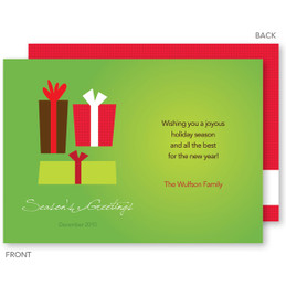 Custom Holiday Cards | Xmas Gifts Green Christmas Photo Cards by Spark & Spark