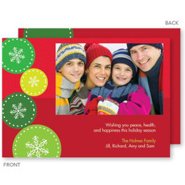 personalized christmas cards no photo | Jumping Snowflakes Christmas Photo Cards by Spark & Spark