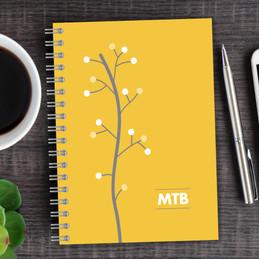 Modern Thin Tree Writing Journal