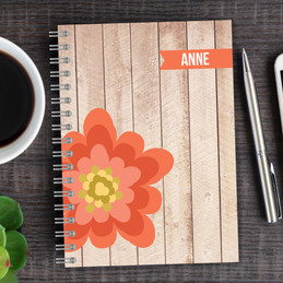 Rustic flower journal