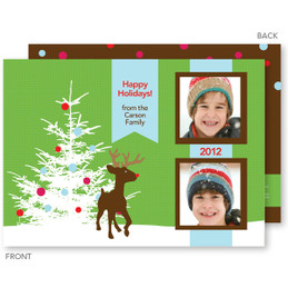 photo personalized christmas cards | Rudolph In The Snow Christmas Photo Cards by Spark & Spark