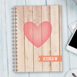 Rustic Heart Writing Journal