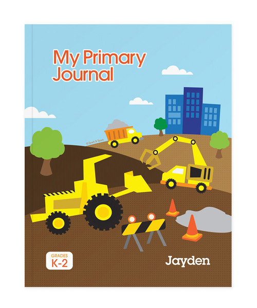 Construction Site Personalized Primary Journal