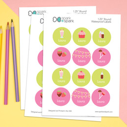 Yummy Sweets Waterproof Labels for Kids