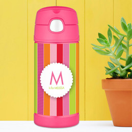 Bold And Fun Stripes Personalized Thermos For Kids