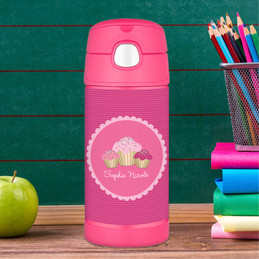 Sweet Cupcakes Personalized Thermos For Kids