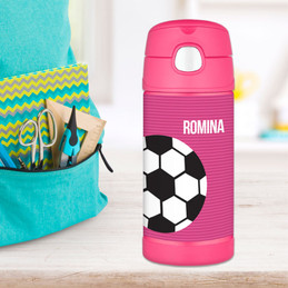 Soccer Ball Personalized Thermos For Kids