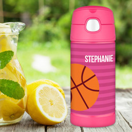 Basketball Personalized Thermos For Kids
