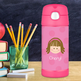 Pink Just Like Me Personalized Thermos For Kids