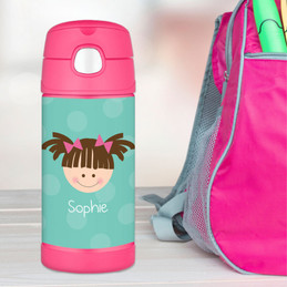Aqua Just Like Me Personalized Thermos For Kids