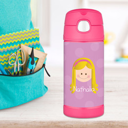 Lavender Just Like Me Personalized Thermos For Kids