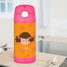 Orange Just Like Me Personalized Thermos For Kids