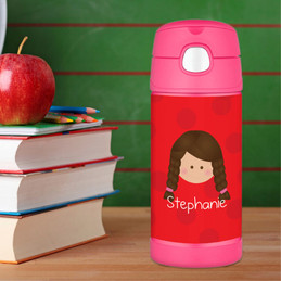 Red Just Like Me Personalized Thermos For Kids