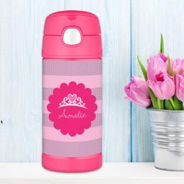 Princess Tiara Personalized Thermos For Kids