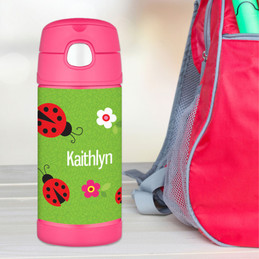 Lady Bug Personalized Thermos For Kids