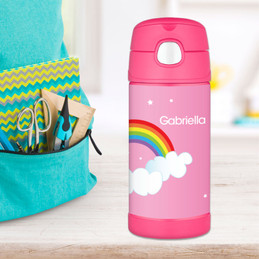 Dreamy Rainbow Personalized Thermos For Kids