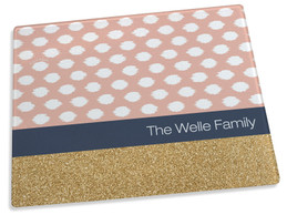 Gold Bar with Pink Spots Cutting Board