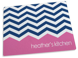 Pink Bar with Chevrons Cutting Board
