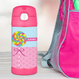 Yummy Lollipop Personalized Thermos For Kids