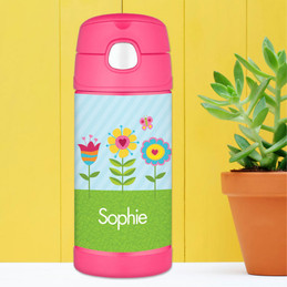 Spring Blooms Personalized Thermos For Kids