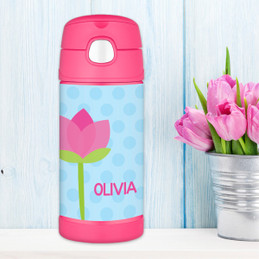 Cute Tulip Personalized Thermos For Kids