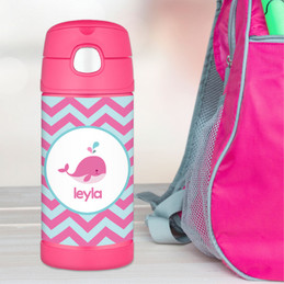 Sweet Pink Whale Thermos Bottle