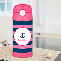 Pink Let's Sail Thermos Bottle