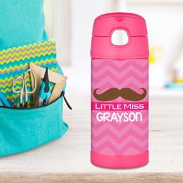 Little Miss Mustache Thermos Bottle