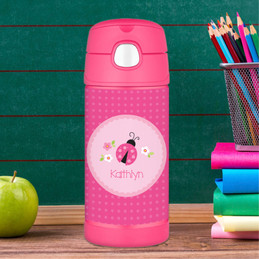 Sweet Pink Lady Bug Thermos Bottle