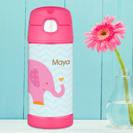Sweet Pink Elephant Thermos Bottle