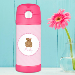 A Sweet Teddy Bear Thermos Bottle