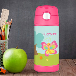 Cute And Sweet Butterfly Personalized Thermos For Kids