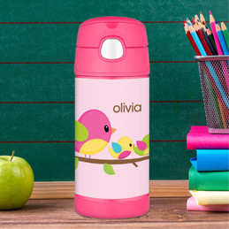 Singing Birds Personalized Thermos For Kids
