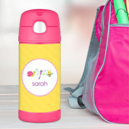 Three Sweet Bugs Personalized Thermos For Kids