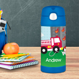 Fighting Fire Personalized Boy Thermos