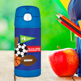 My Love For Sports Personalized Thermos