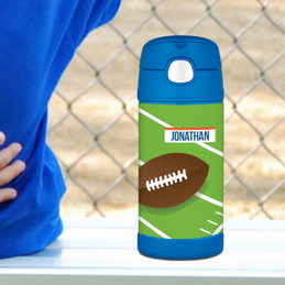 Football Fan Thermos Bottle