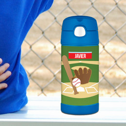 Baseball Fan Personalized Thermos Bottle