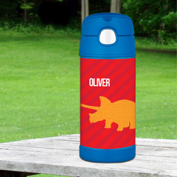 Dino and Me - Red Thermos Bottle